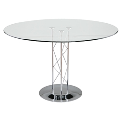 Trave Modern Classic 42 In. Dining Table w/ Chrome Base