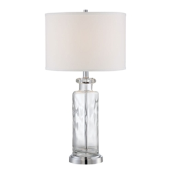 Tristan Clear Contemporary Table Lamp