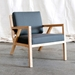 Truss Contemporary Lounge Chair in Menswear Griffin by Gus Modern