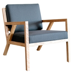 Truss Contemporary Lounge Chair in Menswear Griffin