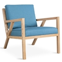 Truss Contemporary Lounge Chair in Muskoka Surf by Gus* Modern