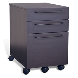 Turner Modern Mobile File Cabinet in Espresso by Unique Furniture