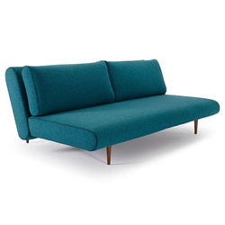 Unfurl Modern Lounger in Aqua Petrol by Innovation