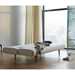 Innovation Unfurl Modern Sleeper in Sand Grey Fabric - Bed Position