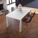 Unice White Modern Extension Table Room