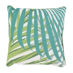 "Uzzi 16"" Tropical Contemporary Decorative Pillow"