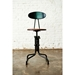 V19R-B Black Metal + Seared Oak Modern Industrial Dining + Counter Stool - Lifestyle
