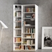 "Valsa 42"" White Staggered Front Contemporary Bookcase"