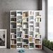 "Valsa 72"" White Wave Effect Contemporary Bookcase"