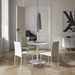 Modloft Varick Eggshell Faux Leather Modern Dining Chair - Lifestyle