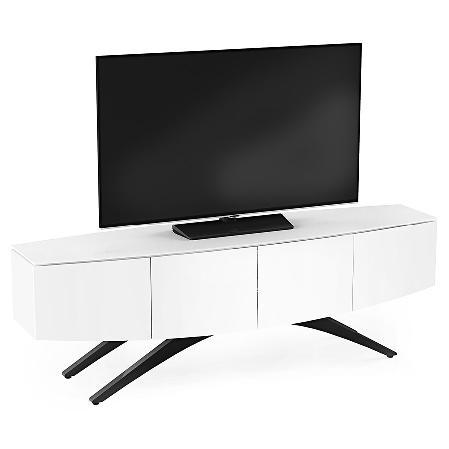 BDI Venue Satin White Media Console