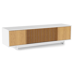 Vertica Oak Low Contemporary TV Stand