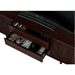 Vertica Chocolate Contemporary TV Stand Drawer Detail