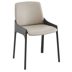 Vilante Modern Two-Tone Gray Side Chair by Euro Style