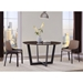 Vilante Modern Taupe and Brown Dining Chairs