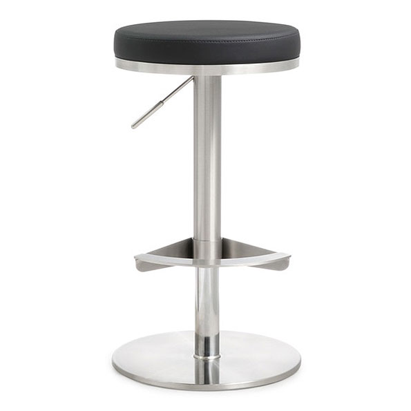 Vilma Black Adjustable Contemporary Stool