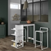 TemaHome Viso White + Concrete-Look Bar Table
