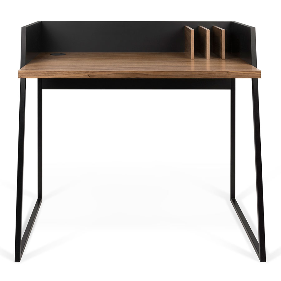 Volga Walnut Black Small Modern Desk By Teme