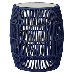 Modloft Volta Blue Cord Modern Outdoor Accent Table