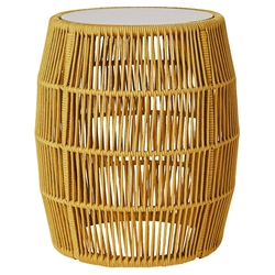 Modloft Volta Curry Yellow Cord Modern Outdoor Accent Table