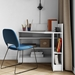Wall Contemporary Corner Desk in White Laminate by TemaHome