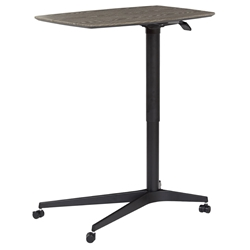 Warner Modern Adjustable Height Gray and Black Laptop Table