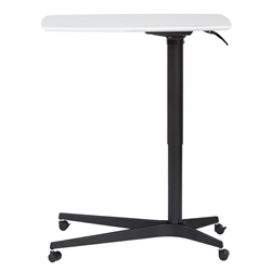 Warner Modern Adjustable Height White and Black Laptop Table