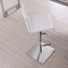 Watson Contemporary Adjustable Stool in White Faux Leather