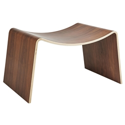 Gus* Modern Pressed + Molded Walnut Plywood Stool