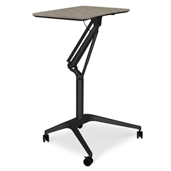Workpad Modern Adjustable Laptop Desk in Gray/Black
