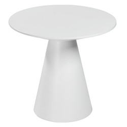 Wesley White Lacquer Modern Side Table