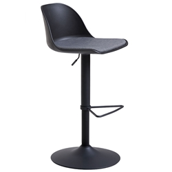 Whistler Black Adjustable Stool in White by Unique Furniture