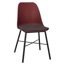 Whistler Burgundy Modern Dining Chair by Unique Furniture