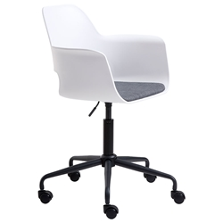 Whistler White Modern Office Chair by Unique Furniture