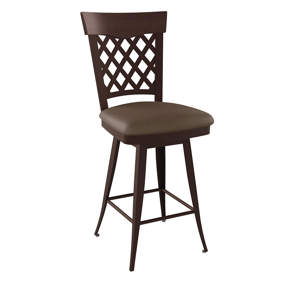 Wicker Contemporary Bar Stool by Amisco