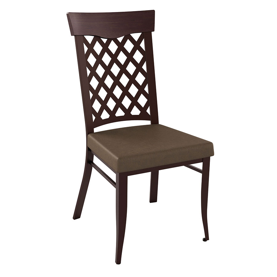 Wicker modern dining chair by amisco collectic home for Modern wicker dining chairs