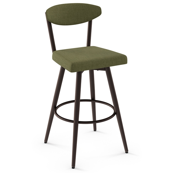 Wilbur Modern Bar Stool by Amisco in Oxidado + Cactus