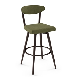 Wilbur Modern Counter Stool by Amisco in Oxidado + Cactus