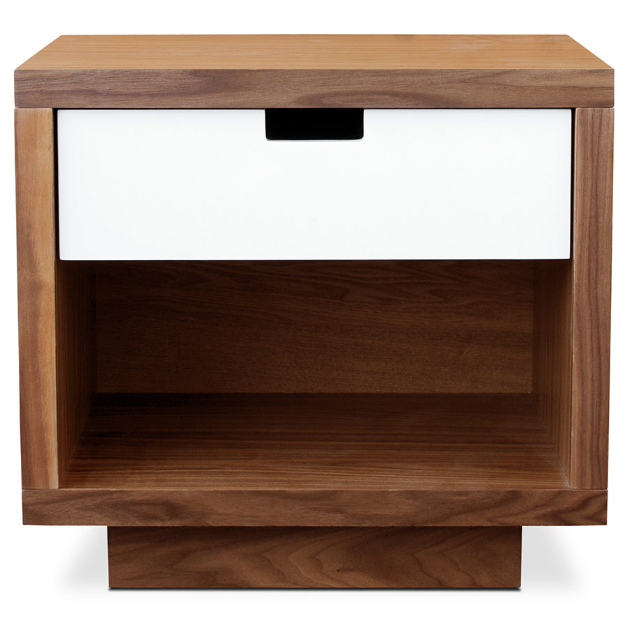 modern end tables. Wilson Contemporary End Table In Walnut By Gus Modern Tables
