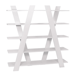 Wind White Contemporary Shelves by TemaHome