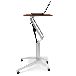 Workpad Modern Adjustable Laptop Desk in Cherry/Silver