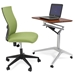 Workpad Cherry Adjustable Desk with Kaja Office Chair