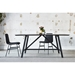 Gus* Modern Wychwood Rectangular Black Ash + Black Powder Coated Steel Contemporary Dining Table - Lifestyle 2