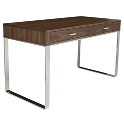 York Modern Walnut Desk by sohoConcept