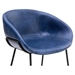 Zach Modern Dark Blue Arm Chair by Euro Style - Seat Detail