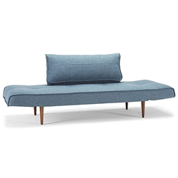 Zeal Modern Sleeper Sofa in Blue by Innovation