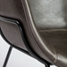 Zed Gray Faux Leather + Black Powder Coated Steel Modern Arm Chair - Stitching Detail