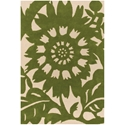 Zinnia 8'x10' Rug in Green and Cream