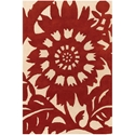Zinnia 3'x5' Rug in Red and Cream