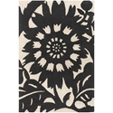 Zinnia 8'x10' Rug in Black and Cream